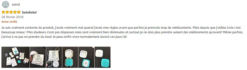 commentaire amazon Livia